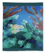 Ocean Blue Fleece Blanket