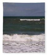 Ocean - Blue - Waves Fleece Blanket