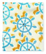 Ocean Circles Fleece Blanket