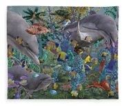 Ocean Circus Fleece Blanket