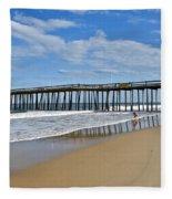 Ocean City Pier Fleece Blanket