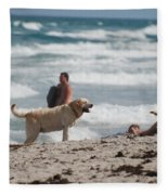 Ocean Dog Fleece Blanket