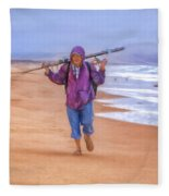 Ocean Fisherman Fleece Blanket