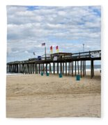 Ocean Fishing Pier Fleece Blanket
