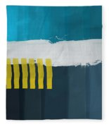 Ocean Front Walk 2- Art By Linda Woods Fleece Blanket
