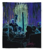 Ocean Lounge Jazz Night Fleece Blanket