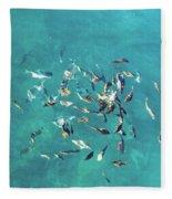 Ocean Marine Fleece Blanket