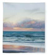 Ocean Painting - Days End Fleece Blanket