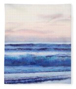 Ocean Painting 'dusk' By Jan Matson Fleece Blanket