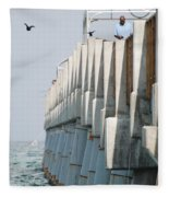 Ocean Pier Fleece Blanket