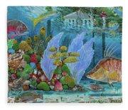 Ocean Reef Paradise Fleece Blanket