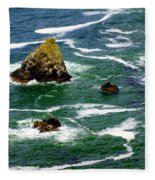 Ocean Rock Fleece Blanket