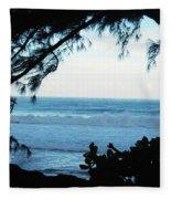 Ocean Silhouette Fleece Blanket