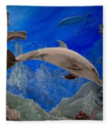 Ocean Splendor Fleece Blanket