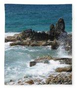Ocean Spray Mid-air Fleece Blanket