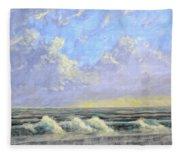 Ocean Storm Sunrise Fleece Blanket
