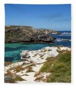 Ocean Water And Rocks Fleece Blanket