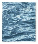 Ocean Waves_1 Fleece Blanket