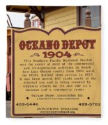 Oceano Depot 1904 Fleece Blanket