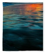 Oceanside Reflective Sunset Fleece Blanket