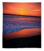 Oceanside Sunset Fleece Blanket