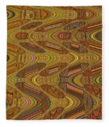 Oceanside Surfer Abstract.#2 Fleece Blanket