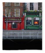 Oconnells Pub And The Batchelor Inn - Dublin Ireland Fleece Blanket