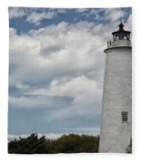 Ocracoke Island Lighthouse Fleece Blanket
