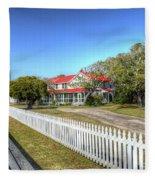 Ocracoke Lighthouse, Ocracoke Island, Nc Fleece Blanket