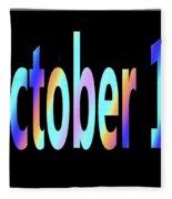 October 14 Fleece Blanket