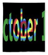 October 18 Fleece Blanket