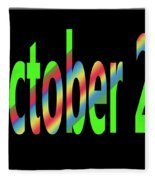 October 29 Fleece Blanket