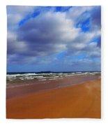October Beach Fleece Blanket