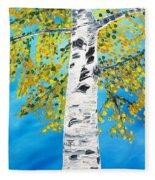 October Birch Fleece Blanket