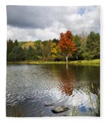 October Brisk Waterscape Fleece Blanket