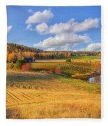 October Countryside 3 Fleece Blanket