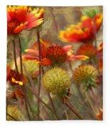 October Flowers 2 Fleece Blanket