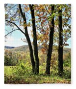 October In Vermont Fleece Blanket