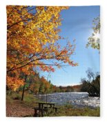 October Light Fleece Blanket