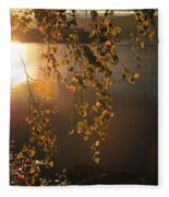 October Light Fleece Blanket