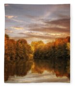 October Lights Fleece Blanket