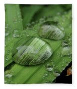 Big Drops Of Rain Fleece Blanket