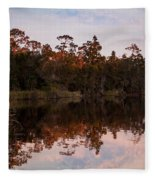 October Reflections On The River Fleece Blanket