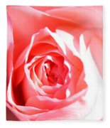 October Rose Close Up Fleece Blanket