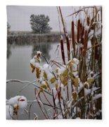 October Snow Fleece Blanket