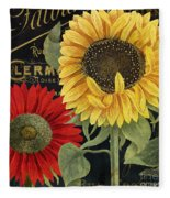 October Sun II Fleece Blanket