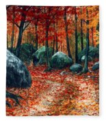 October Woodland Fleece Blanket