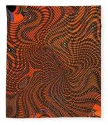 Octopus Red Fleece Blanket