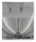 Oculus World Trade Center Wtc Transportation Hub Fleece Blanket