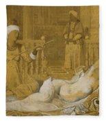 Odalisque With Slave Fleece Blanket